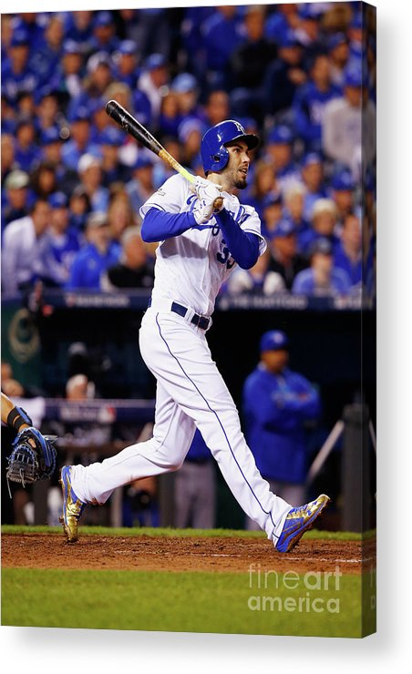 People Acrylic Print featuring the photograph League Championship - Toronto Blue Jays 2 by Jamie Squire