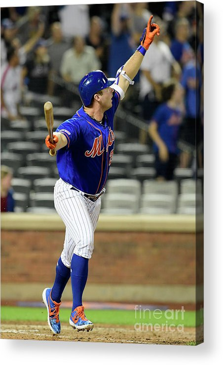 People Acrylic Print featuring the photograph Miami Marlins V New York Mets - Game Two 2 by Steven Ryan