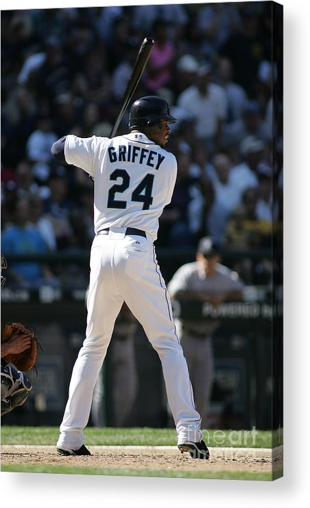 People Acrylic Print featuring the photograph New York Yankees V Seattle Mariners 2 by Rob Leiter