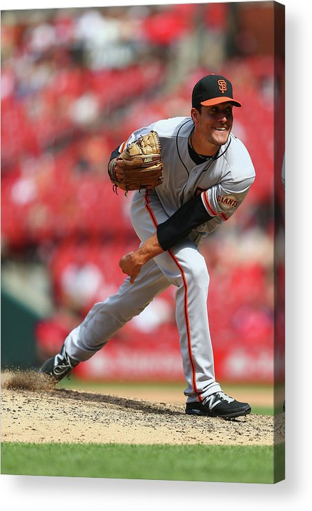 Javier López Acrylic Print featuring the photograph San Francisco Giants V St. Louis 7 by Dilip Vishwanat