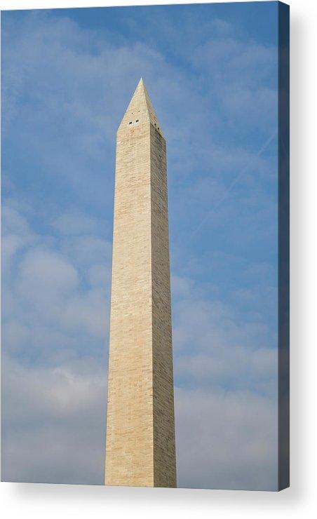 Flag Acrylic Print featuring the photograph Usa, Washington D by Walter Bibikow