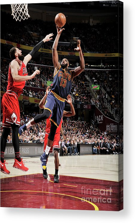 Nba Pro Basketball Acrylic Print featuring the photograph Chicago Bulls V Cleveland Cavaliers 8 by David Liam Kyle