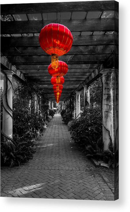 Red Acrylic Print featuring the photograph Along The Red Path by Christine Buckley