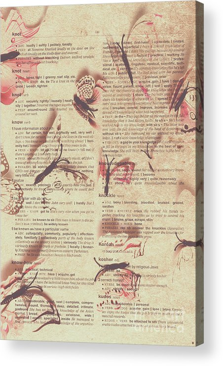 Text Acrylic Print featuring the photograph Book Bugs by Jorgo Photography - Wall Art Gallery