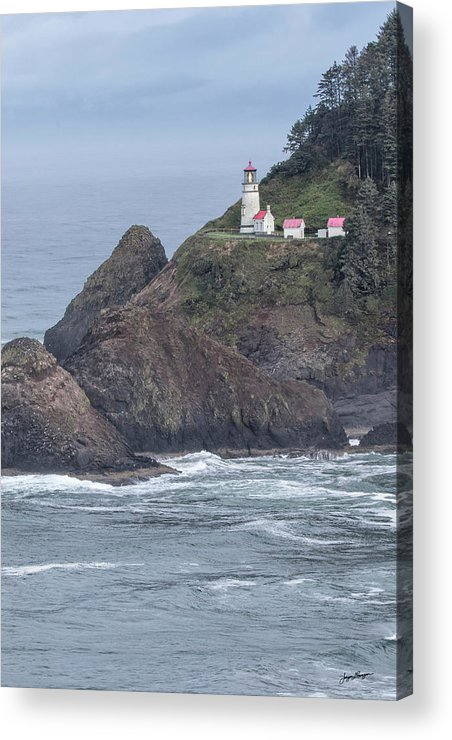 Heceta Head Lighthouse Acrylic Print featuring the photograph Heceta Head Light by Jurgen Lorenzen