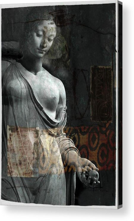 Religious Acrylic Print featuring the mixed media If Not For You - Statue by Paul Lovering