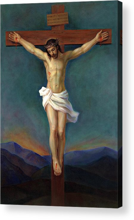 Jesus Christ On The Cross Crucifixion Acrylic Print By