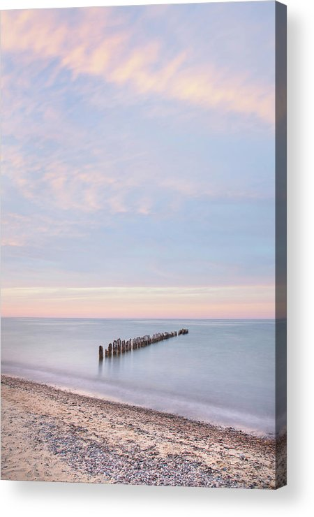 Great Lakes Acrylic Print featuring the photograph Lake Superior Old Pier I by Alan Majchrowicz
