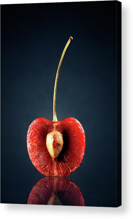 Cherry Acrylic Print featuring the photograph Red Cherry Still Life by Johan Swanepoel