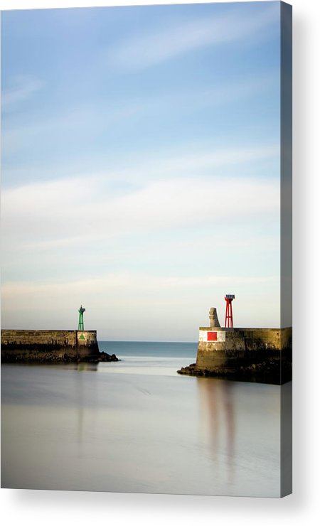 Scenics Acrylic Print featuring the photograph Red-green Light by Leniners