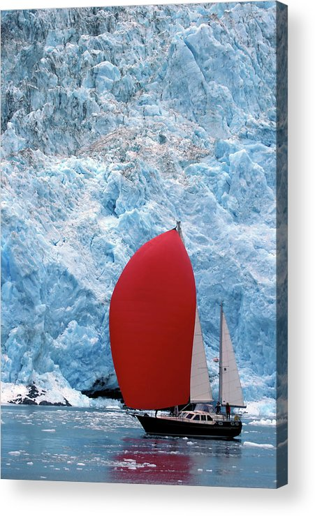 Wind Acrylic Print featuring the photograph Sailboat Prince William Sound Alaska by Laughingmango