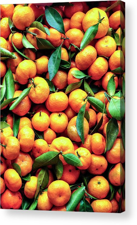 Orange Acrylic Print featuring the photograph Sweet Oranges by Gabriel Perez