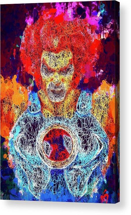 Wall Art Acrylic Print featuring the mixed media Thundercats by Al Matra