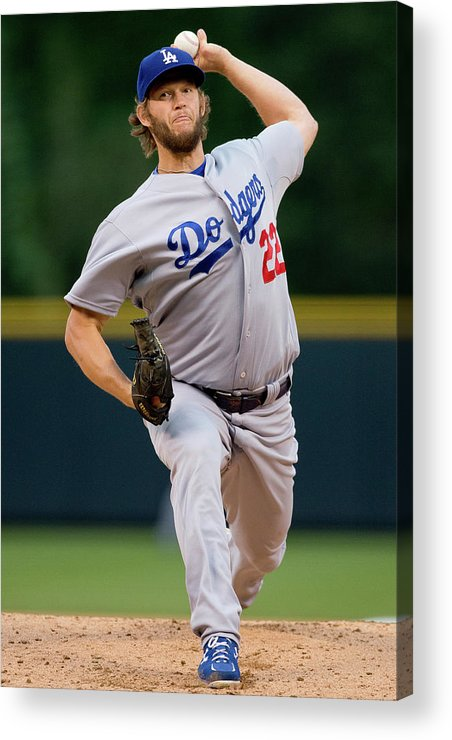 People Acrylic Print featuring the photograph Clayton Kershaw by Justin Edmonds