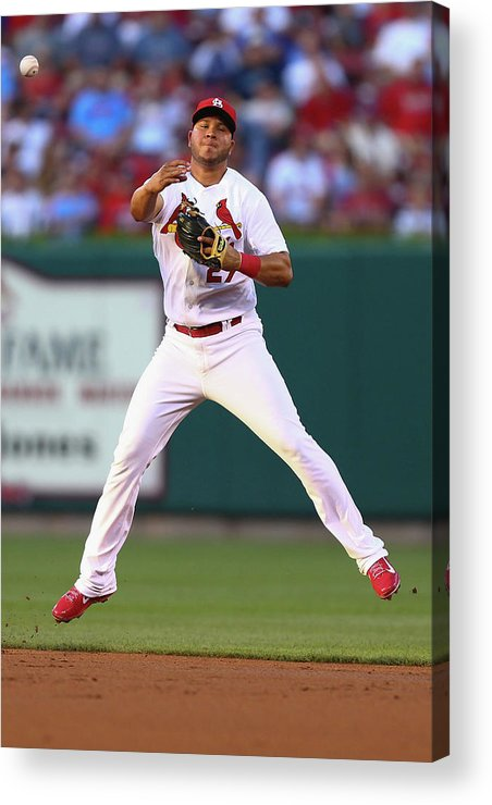 St. Louis Cardinals Acrylic Print featuring the photograph Jhonny Peralta by Dilip Vishwanat