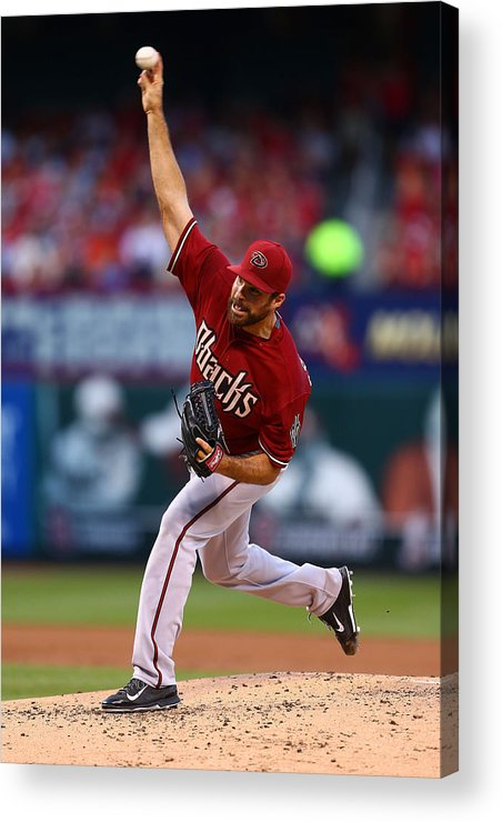 Second Inning Acrylic Print featuring the photograph Josh Collmenter by Dilip Vishwanat