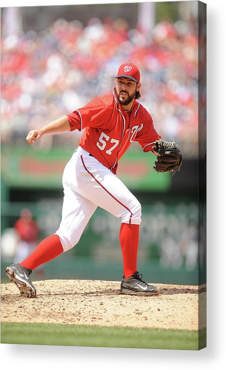Baseball Pitcher Acrylic Print featuring the photograph Tanner Roark by Mitchell Layton