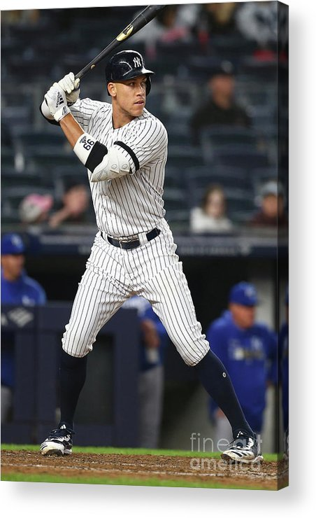 People Acrylic Print featuring the photograph Aaron Judge by Mike Stobe