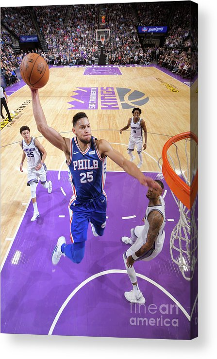 Nba Pro Basketball Acrylic Print featuring the photograph Ben Simmons by Rocky Widner