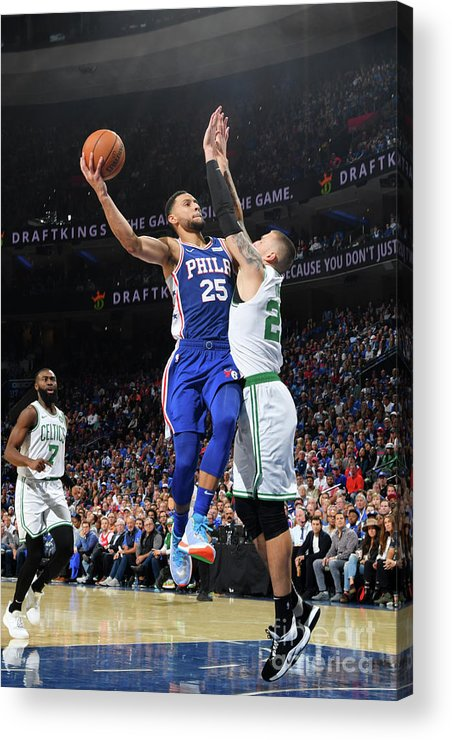 Nba Pro Basketball Acrylic Print featuring the photograph Ben Simmons by Jesse D. Garrabrant