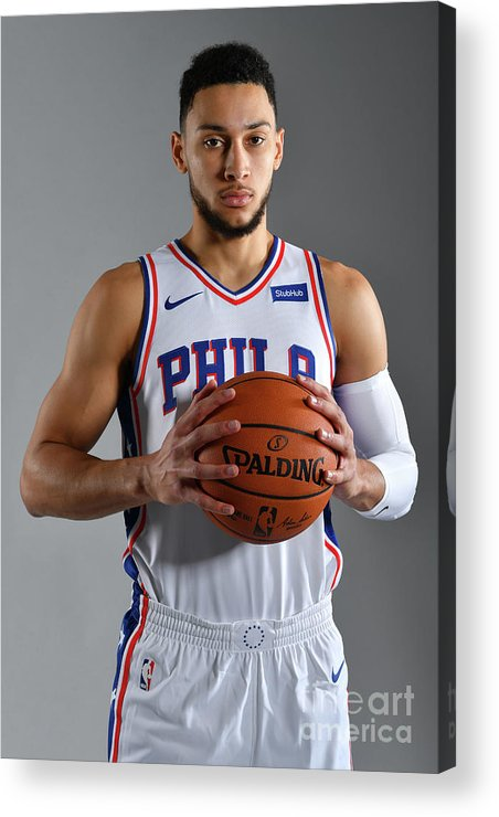 Media Day Acrylic Print featuring the photograph Ben Simmons by Jesse D. Garrabrant