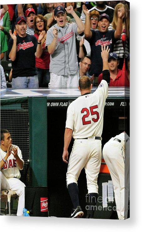 Crowd Acrylic Print featuring the photograph Jim Thome by Jason Miller