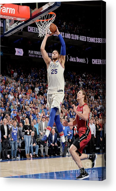 Playoffs Acrylic Print featuring the photograph Ben Simmons by David Dow