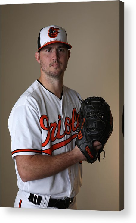 People Acrylic Print featuring the photograph Baltimore Orioles Photo Day by Rob Carr