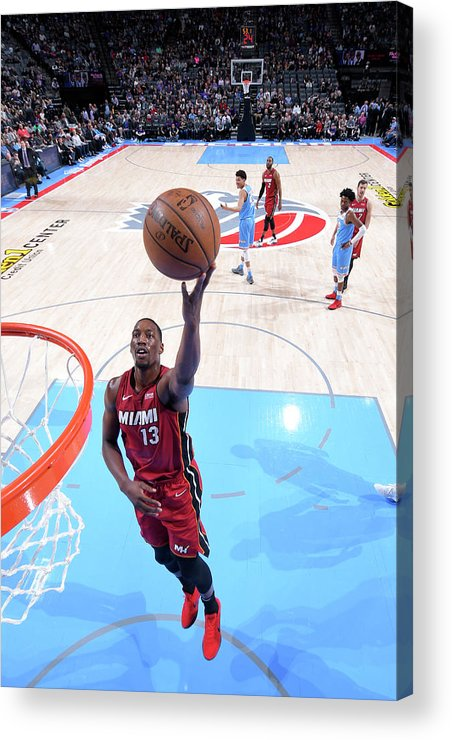 Nba Pro Basketball Acrylic Print featuring the photograph Bam Adebayo by Rocky Widner