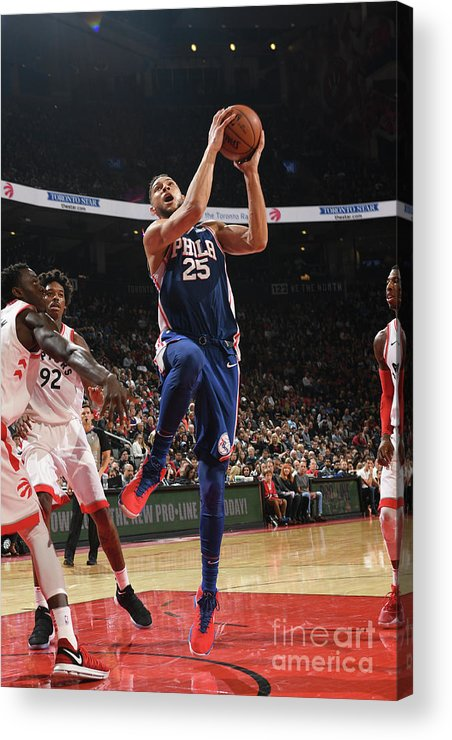 Nba Pro Basketball Acrylic Print featuring the photograph Ben Simmons by Ron Turenne
