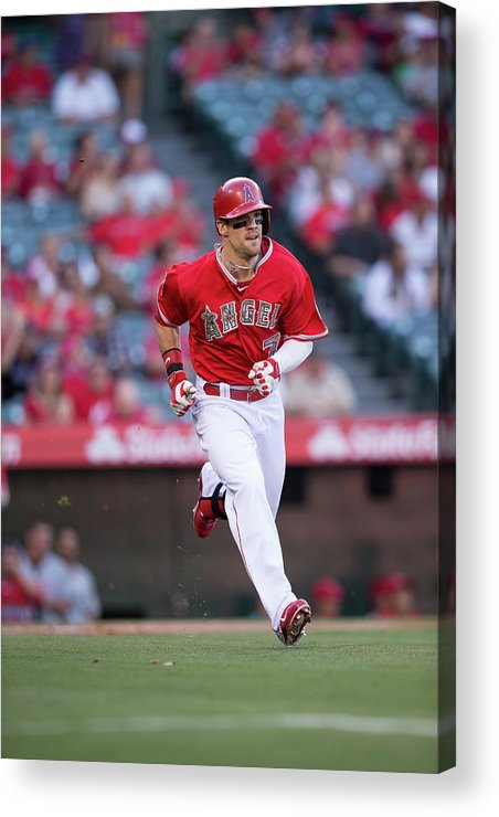 American League Baseball Acrylic Print featuring the photograph Collin Cowgill by Paul Spinelli
