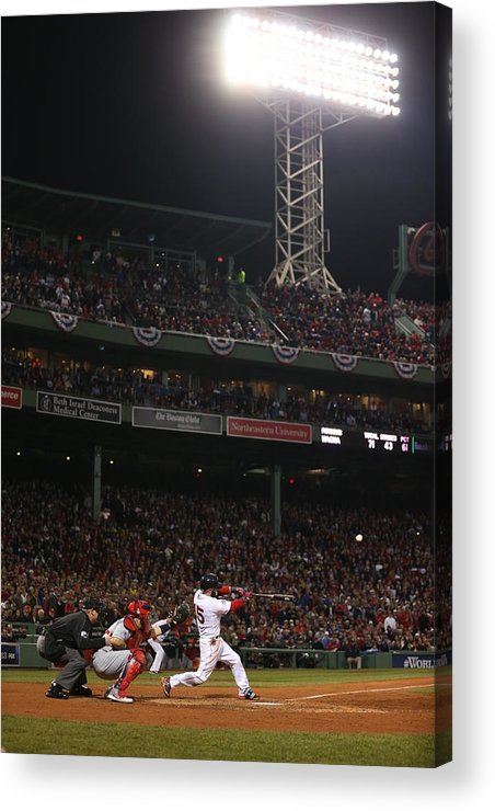 Playoffs Acrylic Print featuring the photograph Dustin Pedroia by Brad Mangin