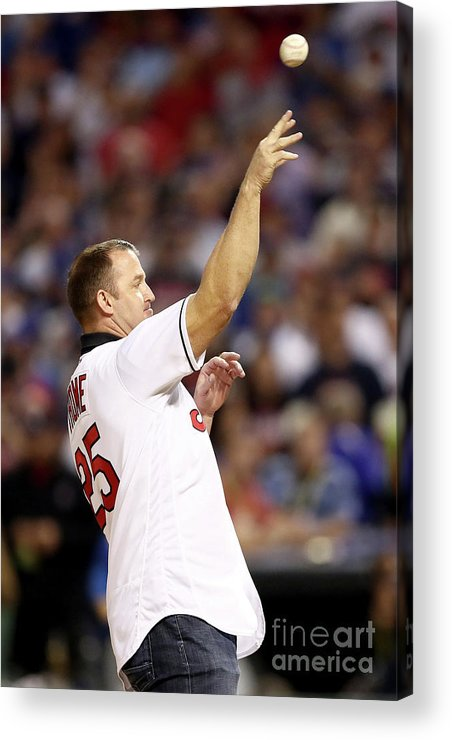 Three Quarter Length Acrylic Print featuring the photograph Jim Thome by Elsa