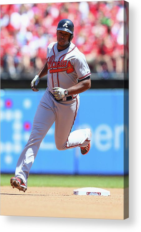 Individual Event Acrylic Print featuring the photograph Justin Upton by Dilip Vishwanat
