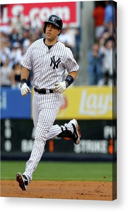 American League Baseball Acrylic Print featuring the photograph Mark Teixeira by Elsa