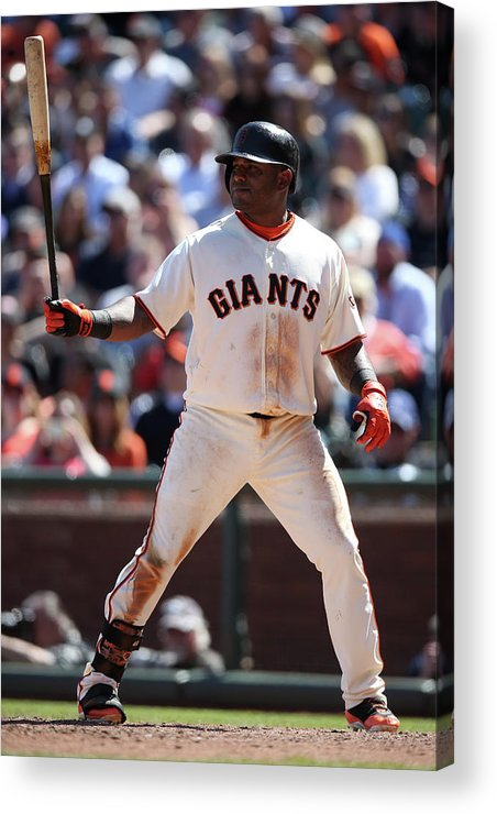 San Francisco Acrylic Print featuring the photograph Pablo Sandoval by Brad Mangin