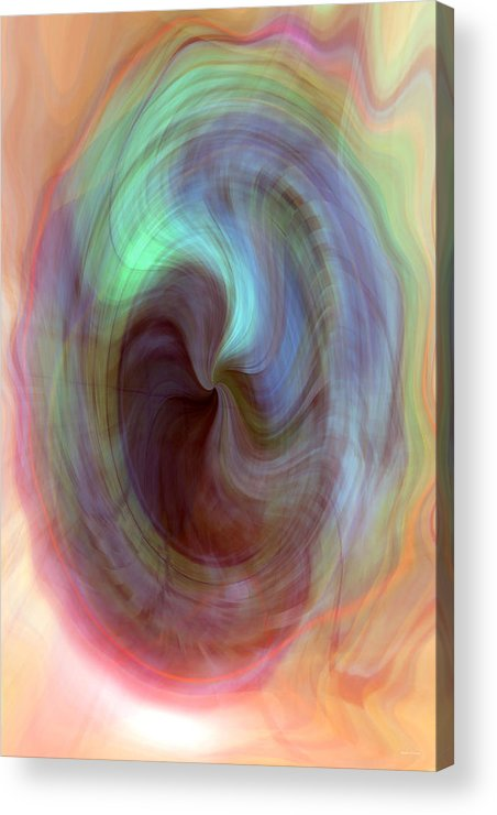 Psychedelic Bubble Acrylic Print featuring the digital art Psychedelic Bubble by Linda Sannuti