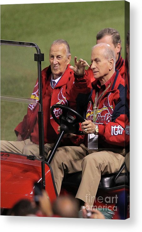 Crowd Acrylic Print featuring the photograph Stan Musial by Doug Pensinger