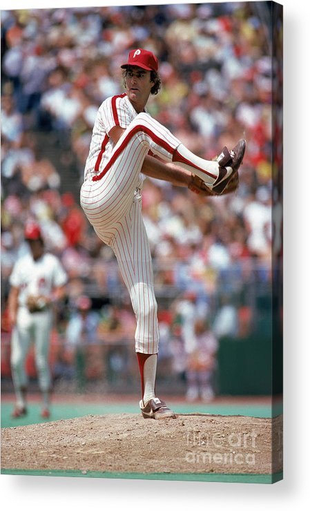 Baseball Pitcher Acrylic Print featuring the photograph Steve Carlton by Mlb Photos