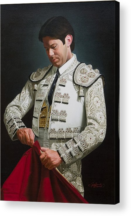 Figurative Acrylic Print featuring the painting Traje De Luces by Gary Hernandez