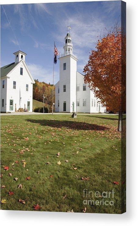 Landscape Acrylic Print featuring the photograph Washington Town Hall - Washington New Hampshire by Erin Paul Donovan