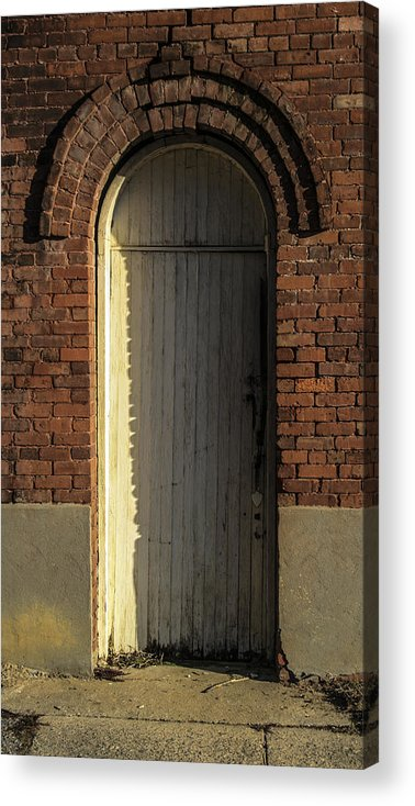 White Acrylic Print featuring the photograph Can I Come In by Steven Taylor