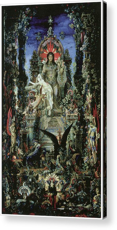 Gustave Moreau Acrylic Print featuring the painting Jupiter And Semele by Gustave Moreau