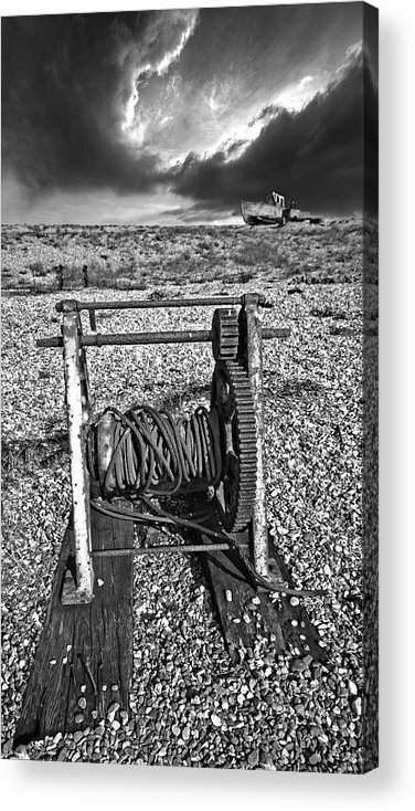 Winch Acrylic Print featuring the photograph Fishing Boat Graveyard 8 by Meirion Matthias