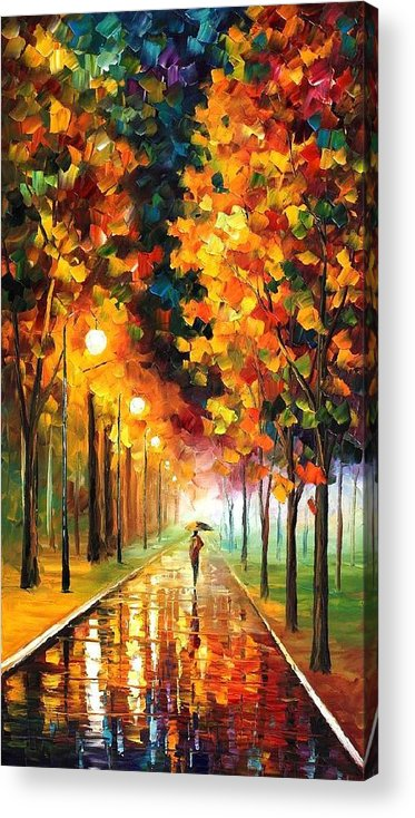 Afremov Acrylic Print featuring the painting Light Of Autumn by Leonid Afremov