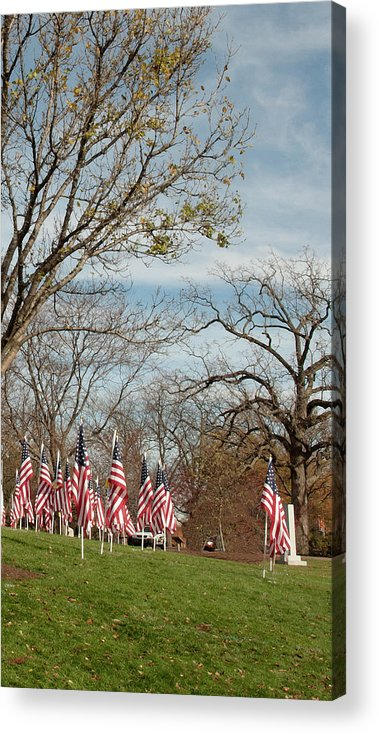 Acrylic Print featuring the photograph 6 Of 6 Naperville Healing Field Of Honor At Rotary Hill by Michael Bessler