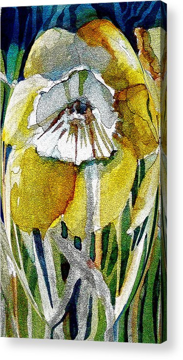 Daffodils Acrylic Print featuring the painting The Daffodil by Mindy Newman