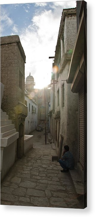 Street Acrylic Print featuring the photograph Streets Of Leh by Aaron Bedell