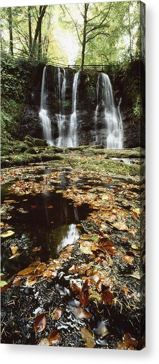 Autumn Acrylic Print featuring the photograph Waterfalls, During The Autumn, Glenoe by The Irish Image Collection