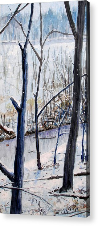 Woods Acrylic Print featuring the painting Fairfax Winter by Ken Meyer